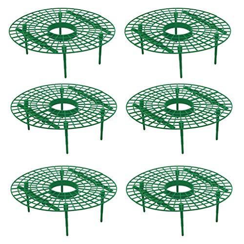 DOITOOL 6 Stuks Plastic Aardbeiensteunen Om Fruit Hoog Te Houden Om Grondrot Te Voorkomen Aardbeienplantsteun Voor de Tuin (Groen)