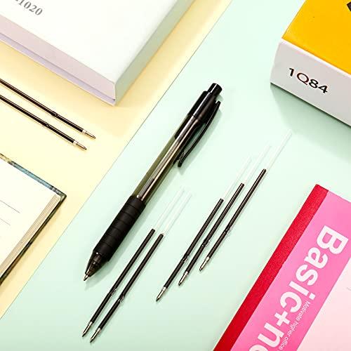Sepamoon Retractable Pen Refills 0.7mm Ballpoint Pen Refills Replacement Gel Ink Refills Blue and Black Ink Refills for Retractable Pens, Office School Supplies (60) Photo #4
