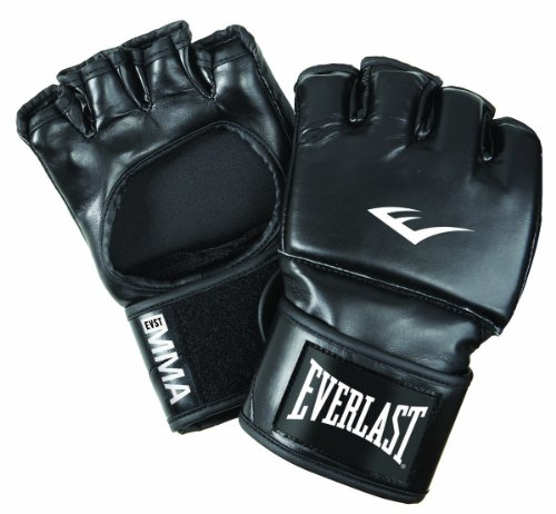 Everlast Erwachsene Boxartikel 7561 Martial Arts Open Thumb Gloves Boxhandschuhe, Black, S/M
