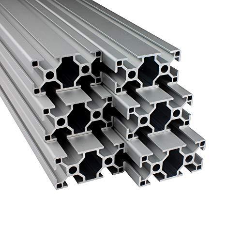 Alu Profil 6 Stück 30x60mm 2m System-, Montage-, Konstruktionsprofil Nut 8