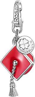 ROSATO Ciondolo Charm Cappello Laurea Rosso in Argento RLU026 MainApps