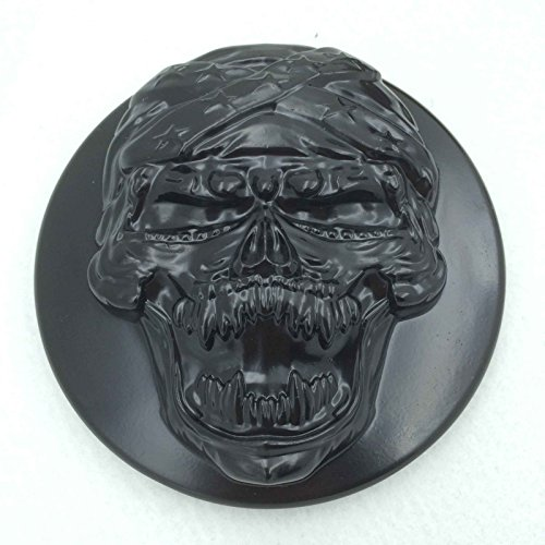 Htt Noir Tête de mort Zombie Système de filtre d'entrée d'air Cleaner Kit pour Harley Sportster Xl883 Xl1200 1988–1990 1991 1992 1993 1994 1995 1996 1997 1998 1999 2010 2011 2012 2013 2014 2015