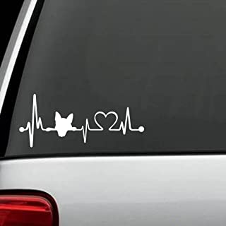 Bluegrass Decals K1017 Dog Heartbeat Love Lifeline Monitor Dog Decal Sticker