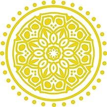 HYO Indian vinyl, geel, 100 x 100 cm