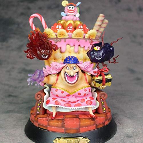 MNZBZ Anime One Piece Big Mom Pirates Charlotte Linlin Sentado Ver GK Estatua PVC Figura de Accion Coleccion Modelo Juguetes Muneca Regalo 24CM
