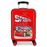 Disney Cars Speed Trails Maleta de Cabina Rojo 38x55x20 cms Rígida ABS Cierre combinación 34L 2,6Kgs 4 Ruedas Dobles...