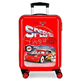 Disney Cars Speed Trails Maleta de Cabina Rojo 38x55x20 cms Rígida ABS Cierre...