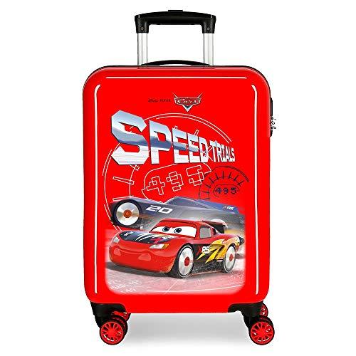 Disney Cars Speed Trails Maleta de Cabina Rojo 38x55x20 cms Rígida ABS Cierre combinación 34L 2,6Kgs 4 Ruedas Dobles Equipaje de Mano
