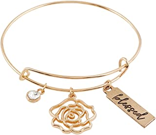 Blessed is She Mother's Day Gold Toned Bangle Bracelet