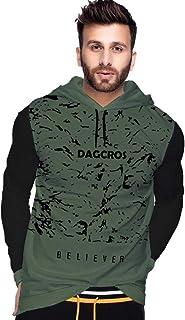 DAGCROS Printed Full Sleeve Hooded T-Shirt for Men's&Boy's