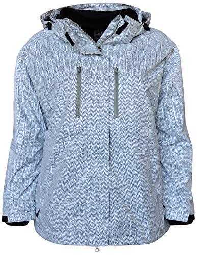 PULSE Damen Ski-Jacke/Ski-Jacke, verlängerte Größe, 3in1 - Weiß - 1X
