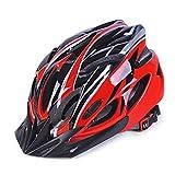GCDN - Casco de bicicleta con visera, ajustable, ligero, para bicicleta de montaña, de carretera para adultos, jóvenes y niños, Unisex adulto, color Rojo+Negro, tamaño Tamaño libre