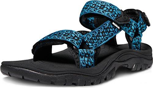 ATIKA Men's Sports Hiking Outdoor Trail Water Sandals, Maya(m111) - Cube Blue, 10