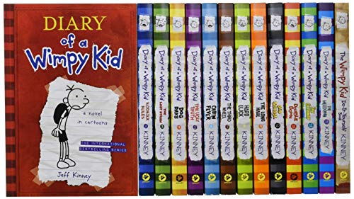 Diary of a Wimpy Kid Box of Books 1-13 + DIY (Export edition)