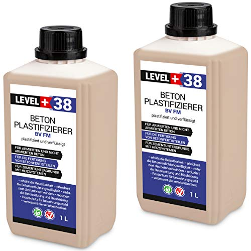 2 L Beton Plastifizierer Fließmittel Betonverflüssiger Zusatzmittel Estrich Zusatzmittel Betonfließmittel RM38