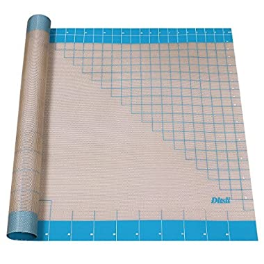 Silicone Pastry Mat with Measurements, 36  x 24 , Full Sticks To Countertop For Rolling Dough, Perfect Fondant Surface.