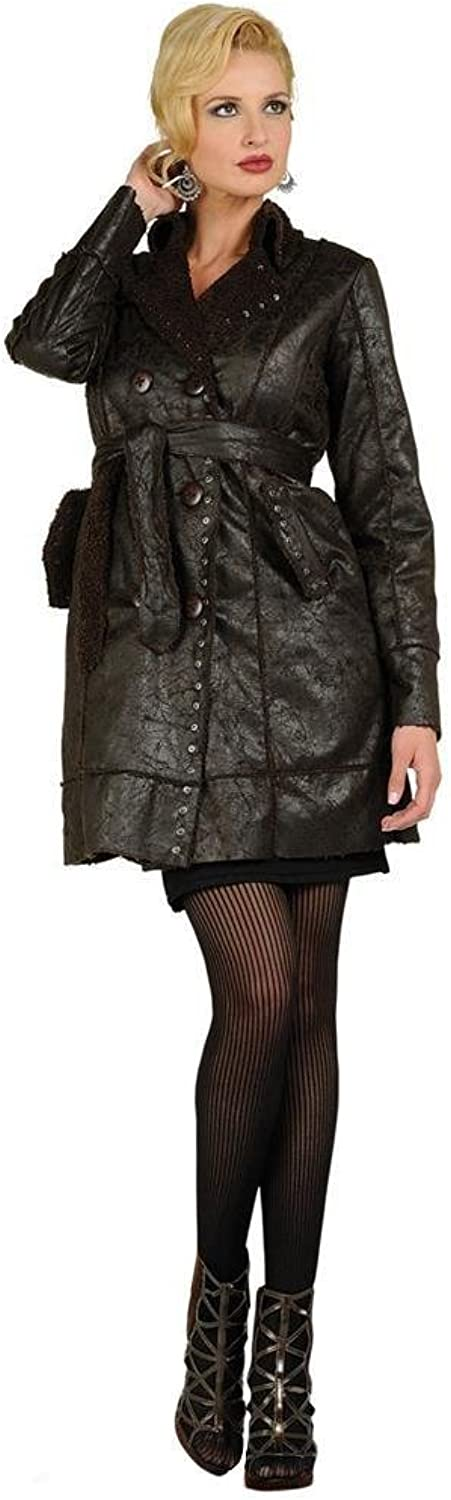 Arisa A Faux Leather Trench Jacket