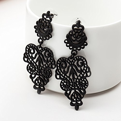 Bobury Orecchini pendenti con gemme e perline Orecchini pendenti con gemme e orecchini pendenti