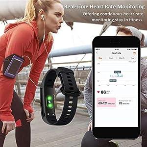 HONOR Band 5 smartwatch,Pulsera de Actividad Inteligente Reloj Impermeable IP68 con Pulsómetro,Monitor de Actividad Deportiva, Fitness Tracker con Podómetro Negro (Versión Global)