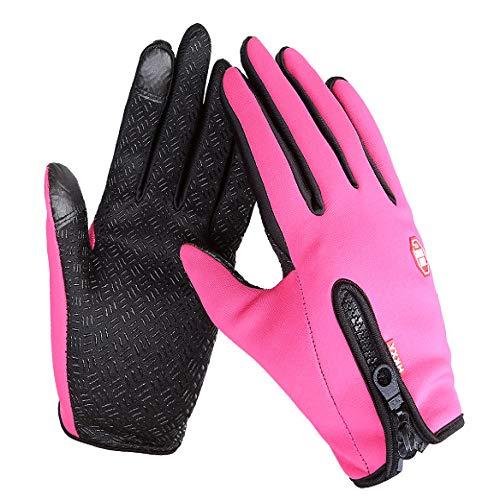 Xme Winterwarme Reithandschuhe, Winddichte warme Fleece-Touchscreen-Handschuhe, Outdoor-Kletterskihandschuhe