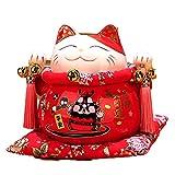 LIUKLAI Caja de Dinero Segura, Dibujos Animados Bonitos, Gato de la Suerte, Hucha Japonesa para niños, Hucha de Ahorro,...