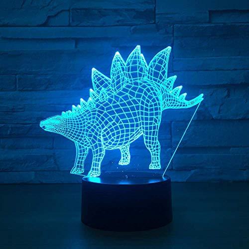 3D Phantom Light LED Night Light Dinosaur Model 7 Cambio de color Animal Chameleon Vision Niños Caja de regalo Luz