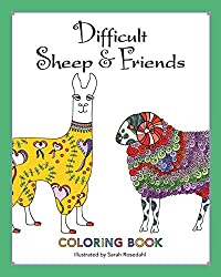 difficult sheep and friends animal coloring books