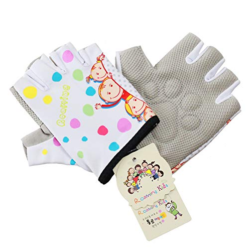 Roaming Kids Sports Gloves for Monkey Bar Gymnastic Exercise Climbing Swing Parkour Pilates Cycle Bike BMX Riding Scooter etc.