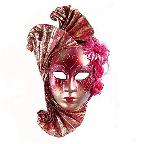 YU Feng Máscara de Mascarada de Rostro Completo para Mujer Disfraces venecianos de Disfraces de Carnaval