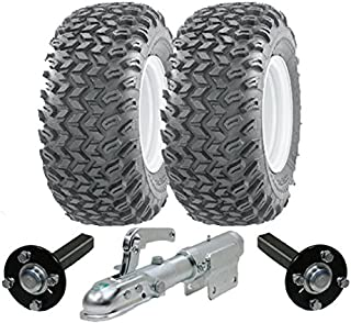 Parnells Heavy duty ATV-aanhangwagenset - Quad trailer - Wanda wielen + SteelPress productie naaf/stub assen, draaibare aa...