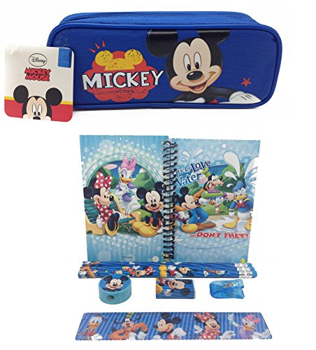 Mickey Mouse Combo Stationary Set + Blue Pencil Pouch