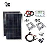 VIASOLAR Kit 200W Camper 12V Panel Solar 2X100W