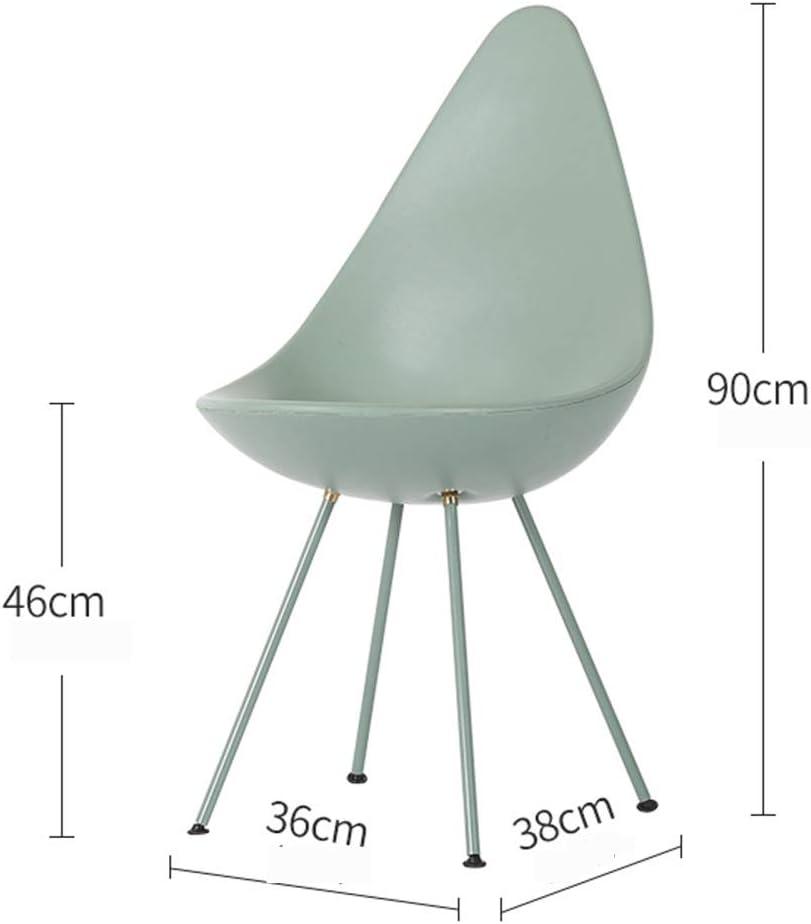 LBYLY PréSident Chaise De Bureau Moderne Chaise De Salle à Manger De Mode Restaurant Café Bureau Chaise De Loisirs en Plastique,D A