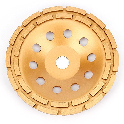 APLUS Grinding Wheel, Diamond Cup, 9-Inch (230mm) Angle Grinder Disc for : Concrete, Marble, Granite, Natural Stone, Cement