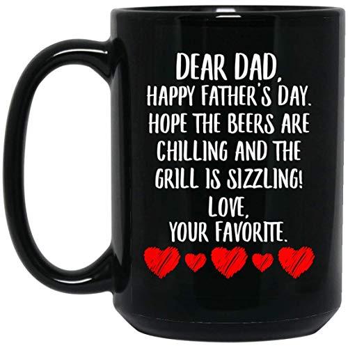 N\A Feliz día del Padre Feliz espero Que Las Cervezas se enfríen y la Parrilla esté hirviendo Taza de café Negro