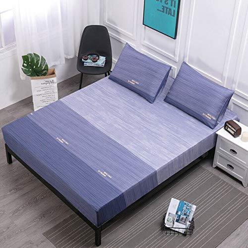 AYQX Wasserdichtes Spannbetttuch Komfortabler atmungsaktiver Matratzenschutz Vier Ecken mit Gummiband zur Bettnässung Milbenabwehr 80x200x30cm Farbe 6