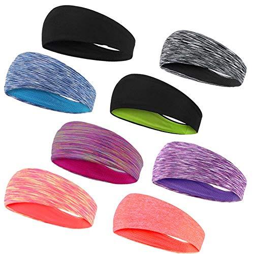 LVYI zweetband, absorberend, warm, hoofdband, voor mannen en vrouwen, hardlopen, yoga, fitness, haarband, paardrijden, dans, sport, sjaal, hoofdband
