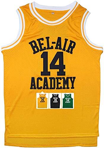 Eway Jersey #14 Basketball Jerseys S-XXXL(Yellow, XL)