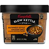 Campbell'sSlow Kettle Style Southwest-Style Chicken Chili with White Meat Chicken, 15.7 oz. Tub...