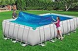 ZAQI Cobertor Solar Piscina Manta Termal de la Tina Caliente, Cubierta de SPA para Piscinas Inflables Frame, Familia de jardín al Aire Libre, 4 7 11 14 17 20 23 26 pies de Ancho