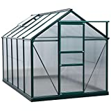 Outsunny 6' x 6' x 7 Greenhouse Aluminum Frame Walk-in Outdoor Plant Garden Polycarbonate