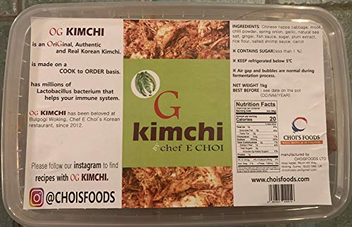 Kimchi 1kg OG Kimchi Cooked by Chef E Choi of BULGOGI Korean Restaurant in Woking Pogi Kimchi Style