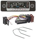 caraudio24 Dietz BOA Retro_201_BT Bluetooth SD CD MP3 USB Autoradio für Mercedes E-Klasse W124 S-Klasse W126