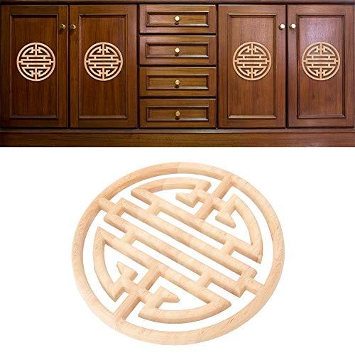 Aplique tallado, aplique tallado, calcomanía de talla china, decoración de armario, decoración de muebles para decoración de puertas