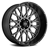 Vision Rocker 20x12 Gray Black Wheel / Rim 5x5 with a -51mm Offset and a 78.1 Hub Bore. Partnumber 412-20273ABL-51