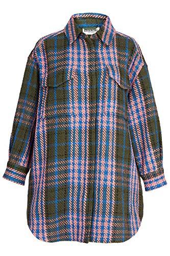 Essentiel Antwerp Damen Overshirt Wecho Olive/Pink - S (36)