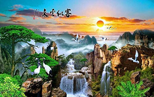 LYBSSG Flying Crane In The Mountains - Jigsaw Puzzles For Adults 1000-Piece Diy Puzzle Kids Wooden Toys