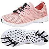 ALEADER Womens Water Shoes, Tennis Walking Sneakers, Xdrain Adventure Power/Pink 10 D(M) US