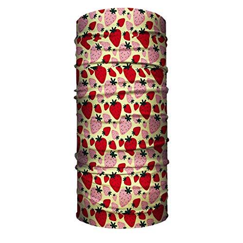 Mascarilla tubular para cuello y cuello de fresa, bandana deportiva para motociclista, 19.7 x 9.8 cm, un juego de 2 piezas.