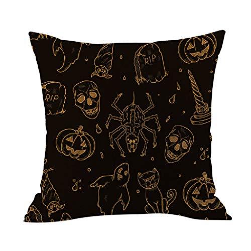 Cushion Cover Halloween Pillowcase Cushion Case Home Decoration Linen Cushion Cover Home & Garden Pillow Case Christmas for Faclot